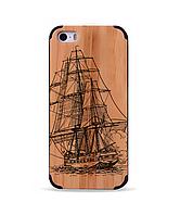 Деревянный чехол с гравировкой для Apple iPhone 5 Wooden Bamboo Case Ship
