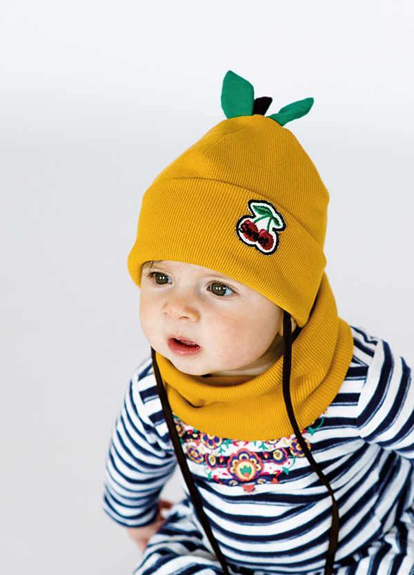 Детская шапка ОРАНЖ (набор) для малышей оптом размер 44-46-48