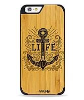 Дерев'яний чохол з гравіюванням для Apple iPhone 6 Wooden Bamboo Case Anchor