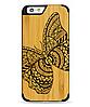 Дерев'яний чохол з гравіюванням для Apple iPhone 6 Wooden Bamboo Case Batterfly