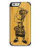 Дерев'яний чохол з гравіюванням для Apple iPhone 6 Wooden Bamboo Case Bart Simpson