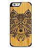 Дерев'яний чохол з гравіюванням для Apple iPhone 6 Wooden Bamboo Case Wolf