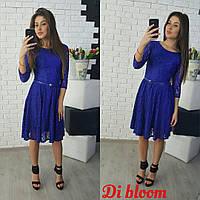Платье из роскошного гипюра с поясом
