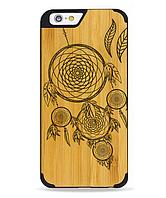 Дерев'яний чохол з гравіюванням для Apple iPhone 6 Wooden Bamboo Case Dream Catcher