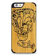 Дерев'яний чохол з гравіюванням для Apple iPhone 6 Wooden Bamboo Case Brain Storm