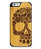 Дерев'яний чохол з гравіюванням для Apple iPhone 6 Wooden Bamboo Case Skull