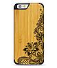 Деревянный чехол с гравировкой для Apple iPhone 6 Wooden Bamboo Case Flower