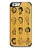 Деревянный чехол с гравировкой для Apple iPhone 6 Wooden Bamboo Case Celebrities