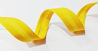 Косая  бейка  матовая  (029) 15мм  желтый