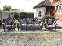 Комплект меблів БАРОККО 3+1+1+журнальний столик(3232)