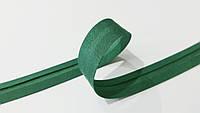 Косая  бейка  матовая  (212) 15мм  темн. зел.