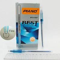 """Ручка PT-1157 Piano """"Best"""" шариковая, масляная, СИНЯЯ толщина 0,5мм уп50"""