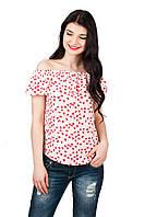 Женская блуза с воланом p.42-46 C101