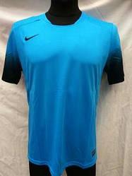 Футбольная форма взрослая в стиле Nike чистая голубая-черная