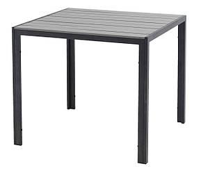 Садовый квадратный стол из стали и артвуда