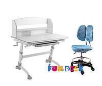 Растущая парта для дома FunDesk Volare II Grey + Детское кресло SST6