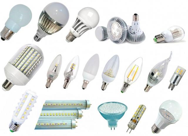 Светодиодные лампы: разновидности