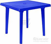 Садовый стол пластиковый синий квадратный (для кафе и улиц)