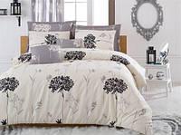 Турецкое Двуспальное-Евро постельное белье Eponj Home EFIL SV10