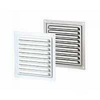 Вентиляция, вентиляционные системы,Решетка винтиляцийна с покрытием полимерной эмалью с сеткой (сталь) 150х150