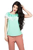 Роскошная блуза с воланом Ажур с открытыми плечами p.42-46 C103-5