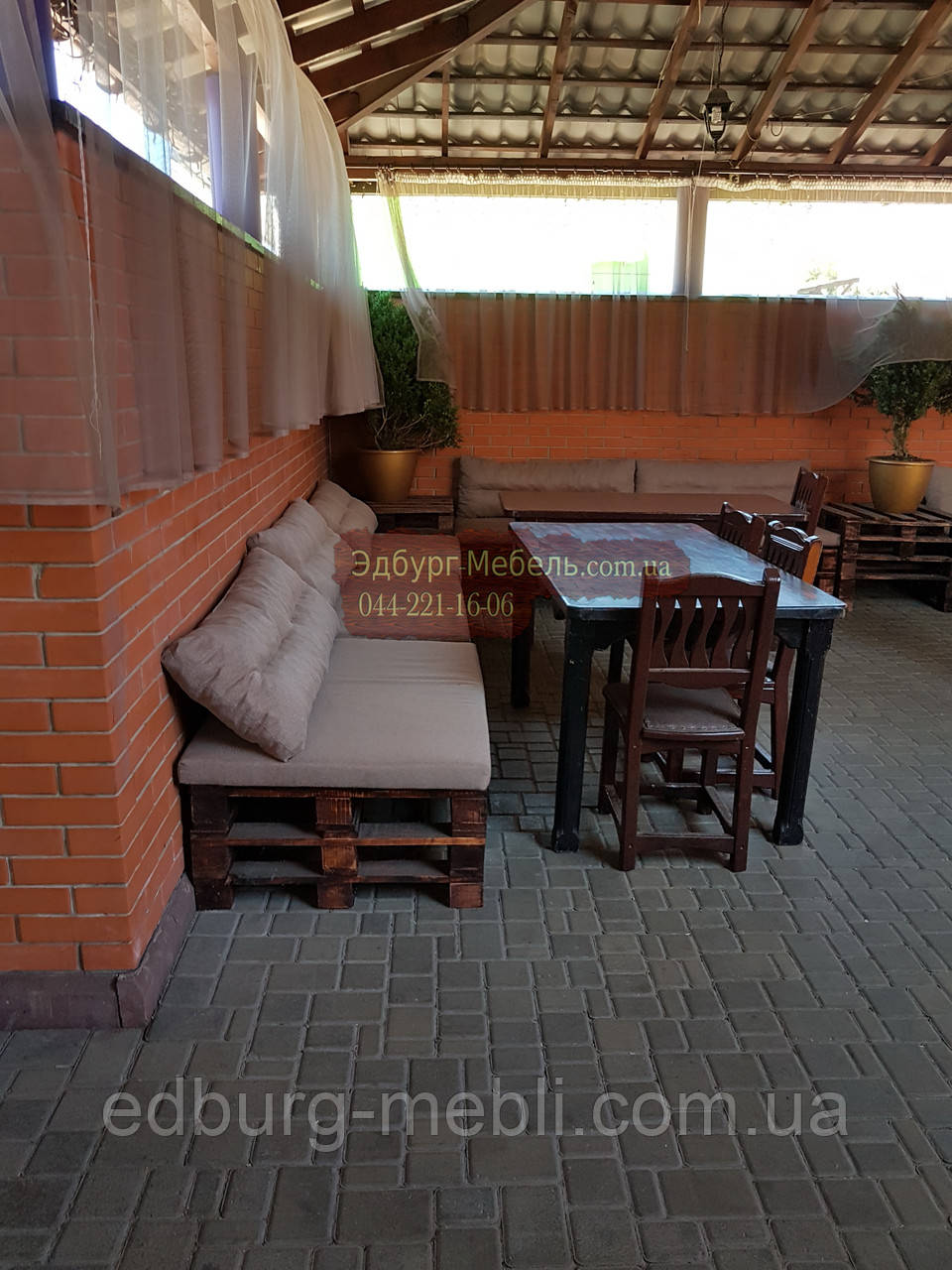 Подушки для мебели из паллет, поддонов - фото 5