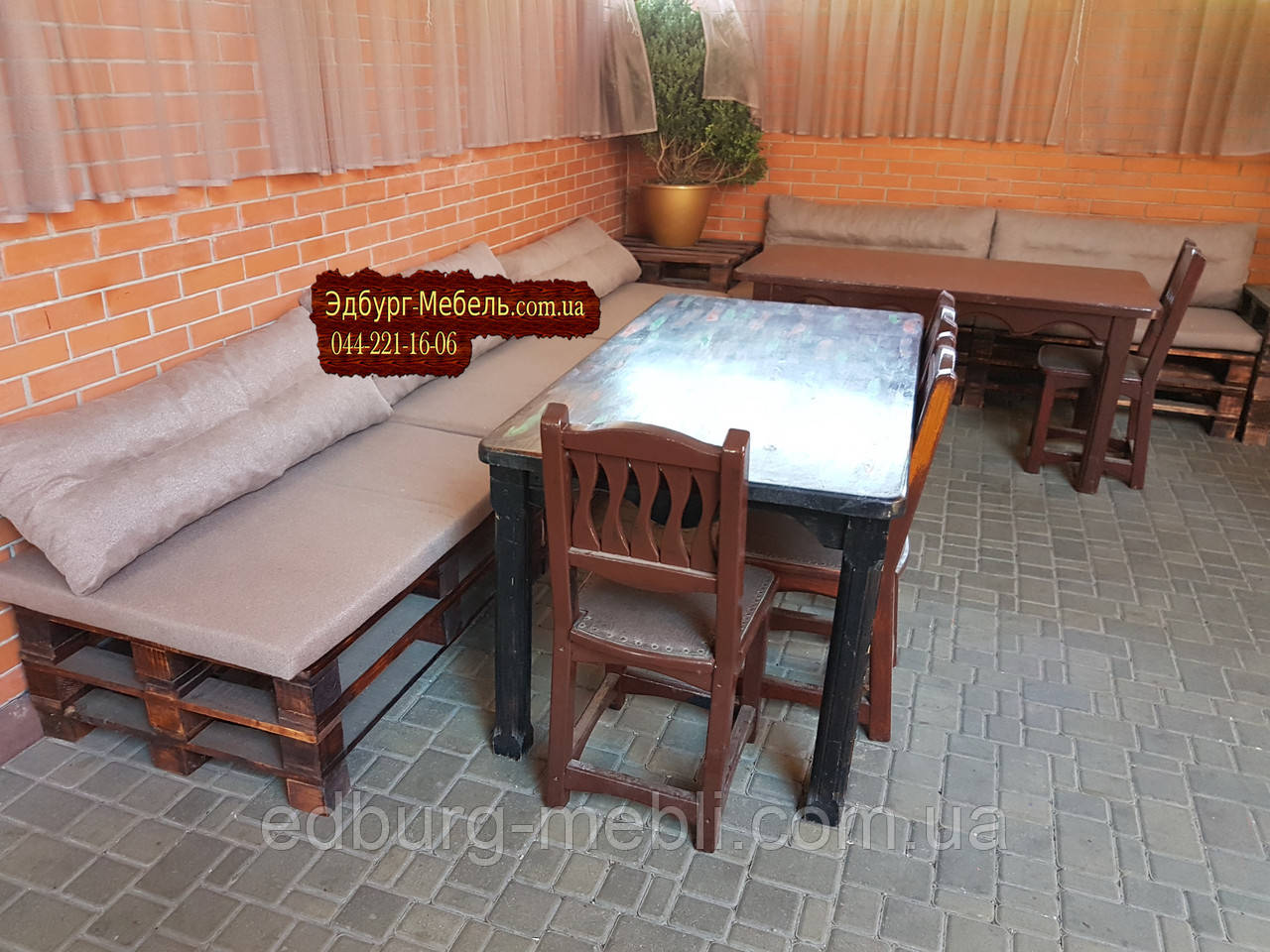 Подушки для мебели из паллет, поддонов - фото 4