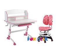 Парта для девочки для дома FunDesk Volare II Pink + Детское кресло SST6 Pink