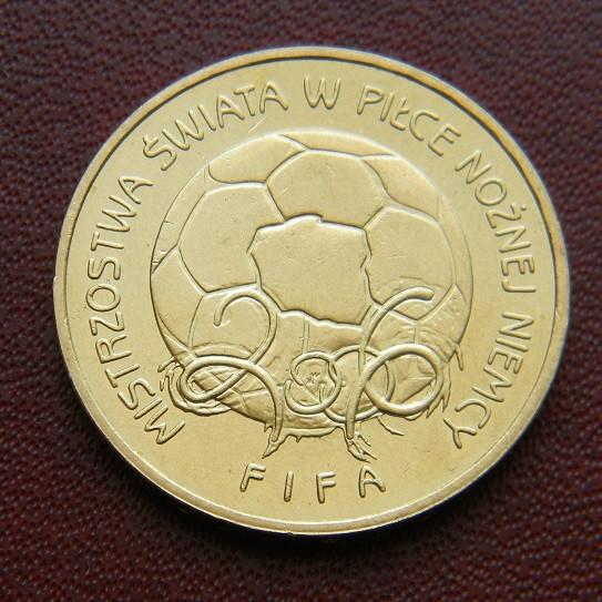 Польша 2 злотых 2006 Спорт Футбол ЧМ'2006 Германия