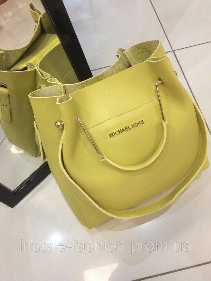 Модная сумка Michael kors MICHAEL KORS цвет желтый фурнитура золото