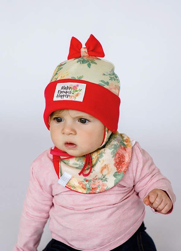 Детская шапка МЮЗИКЛ (набор) для малышей оптом размер 42- 44-46