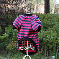 Футболка для собак и кошек London, футболка полосатая для животных Великобритания