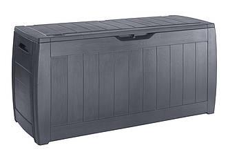 Садовый пластиковый ящик большой для хранения 117 см (сундук)