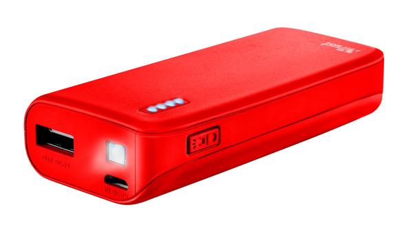 Портативное зарядное устройство Trust Primo 4400 red (внешняя зарядка для телефона)