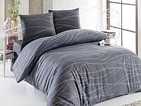 Турецкое Двуспальное-Евро постельное белье VERDA GRI SV10