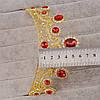 Корона и серьги набор РУБИНА красная диадема Тиара бижутерия, фото 4
