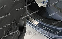 Накладки на пороги Opel Astra J 5D (накладки порогов Опель Астра J)