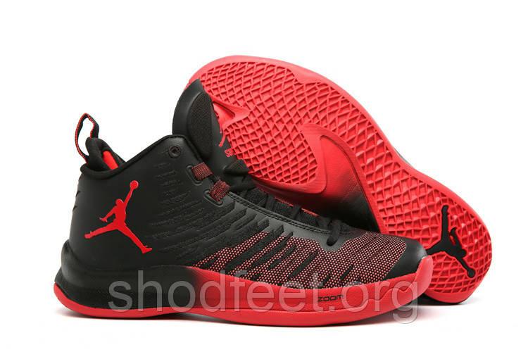 Мужские Баскетбольные Кроссовки Air Jordan Super Fly 5 Black Red — в ... 297eb97aa7599