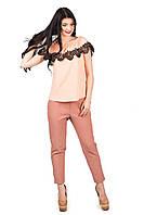 Женская блуза с воланом Ажур с открытыми плечами p.42-46 C103-4