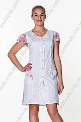 Халат женский Анжелика ткань сорочечна (рукав короткий)