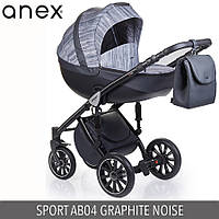 Детская универсальная коляска 2 в 1 Anex Sport 2017  Q1(AB04) GRAPHIT NOISE
