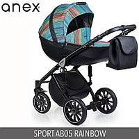 Детская универсальная коляска 2 в 1 Anex Sport 2017  Q1(AB05) RAINBOW