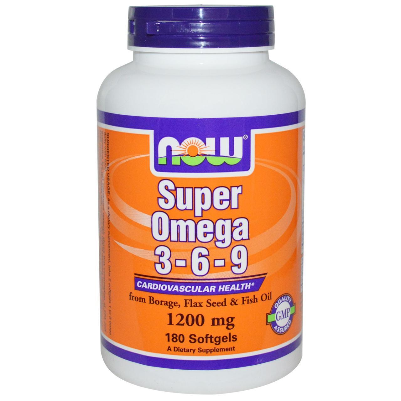 Now Foods Super Omega 3-6-9 1200mg 180 caps