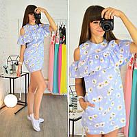 Платье-мини с воланами Зарина с цветочным принтом