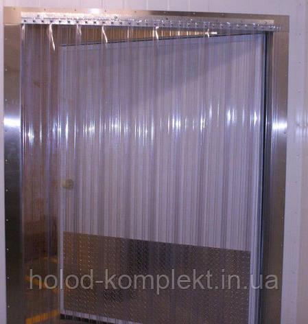 Термозавесы из ребристой ПВХ проем 2 х 2 м., фото 2