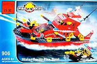 Конструктор BRICK 906 Пожарный катер 340 деталей