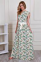 Красивое легкое платье на лето в пол размер 44-46, 48-50