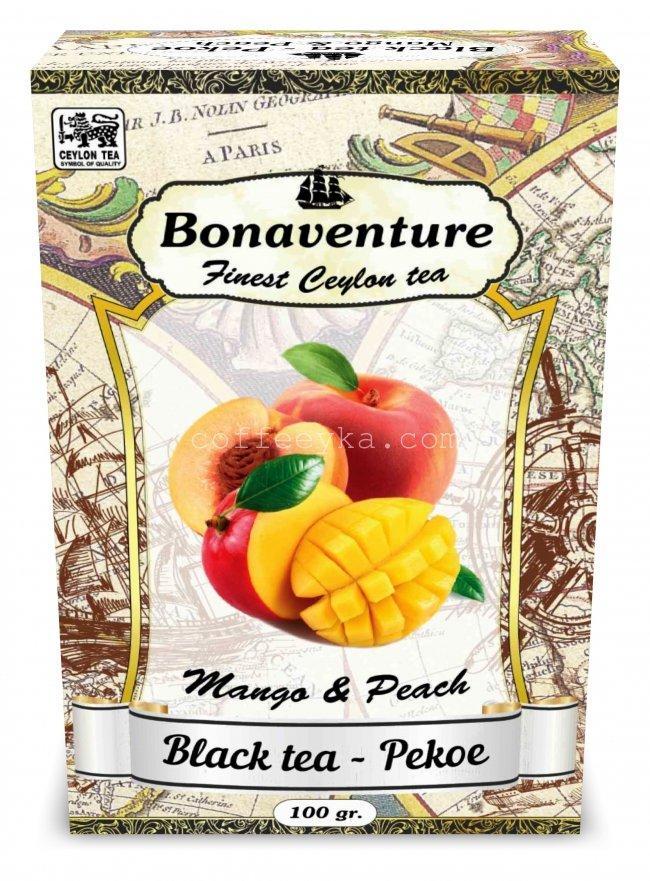 """Чай чёрный Bonaventure """"Mango & Peach"""" Персик Манго 100 г"""
