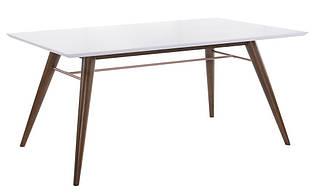 """Белый обеденный стол """"Леон"""" (состаренное дерево)"""