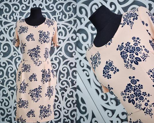 """Милое женское платье ткань """"хлопок + стрейч"""" 52 размер батал, фото 2"""
